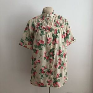 Vintage Strawberry Smock top/House Coat